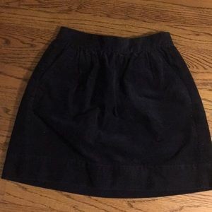 navy corduroy skirt WITH POCKETS